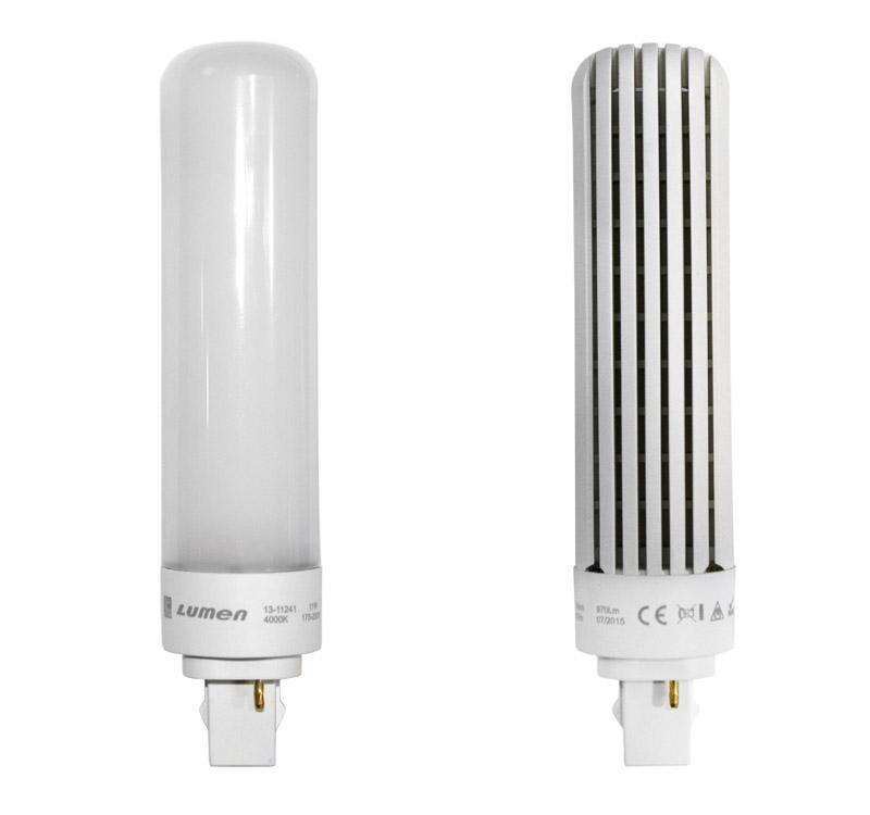LED ΛΑΜΠΑ SMD G24d τύπου PLC 2PIN 11W 230V ΛΕΥΚΟ 13-11241