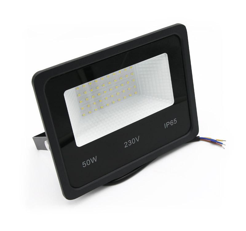 ΠΡΟΒΟΛΕΑΣ LED-SMD 50W 230V 6200K IP65 ΜΑΥΡΟΣ 3-375010